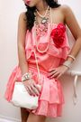 Pink-glitterati-dress-beige-assorted-necklace-white-forever21-bracelet-whi