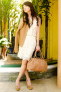 Cream-lace-forever21-skirt-camel-twill-h-m-blazer-nude-stam-marc-jacobs-bag