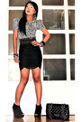 White-zara-blouse-black-glitterati-belt-black-topshop-skirt-black-topshop-