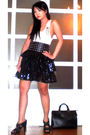 Black-glitterati-skirt-white-mens-section-top-black-zara-shoes-black-louis