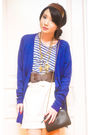 Blue-h-m-cardigan-blue-forever-21-t-shirt-white-online-skirt-brown-random-
