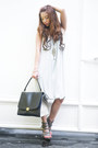 Heather-gray-tyler-dress-gray-celine-bag-silver-s-h-heels