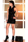 Black-glitterati-dress-black-online-boots-black-chanel-purse-silver-foreve