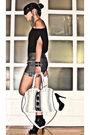 Black-mango-t-shirt-glitterati-shorts-black-online-boots-white-from-sis-pu