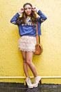 Eggshell-trunk-show-boots-teal-zara-sweater-beige-forever21-skirt