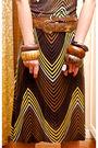 Brown-zara-dress-brown-vintage-chanel-belt-brown-nine-west-shoes-gold-earr