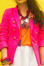 Hot-pink-tailored-zara-blazer-cream-murakami-louis-vuitton-bag