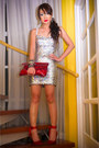Silver-glitterati-dress-red-lanvin-x-h-m-heels-red-bag-silver-earrings