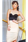 Black-miss-d-heels-black-255-chanel-bag-peach-glitterati-skirt