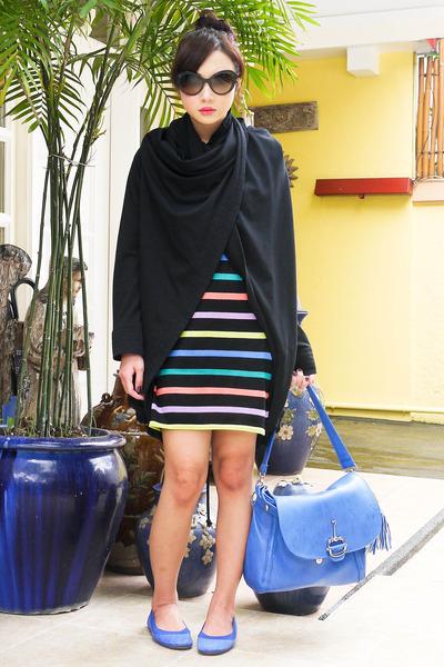 dark brown Prada sunglasses - blue ballet Yosi Samra flats