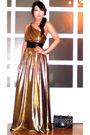 Gold-glitterati-dress-black-chanel-purse-gold-moms-bracelet-zoo-shop-shoes