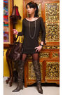 Brown-ilaya-coat-brown-zara-dress-brown-online-boots-gold-assorted-accesso