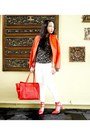 Ivory-zara-jeans-carrot-orange-zara-blazer-red-celine-bag