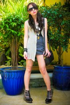 heather gray British India vest - charcoal gray Topshop shorts - silver Cuteture