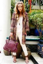 maroon Chloe bag