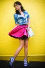 Blue-zara-jacket-pink-poisonberry-skirt-white-marks-and-spencer-socks-blue