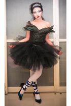 black Glitterati intimate - black Glitterati skirt - silver costume store access