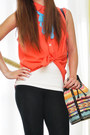 Navy-aldo-glasses-black-zara-leggings-orange-tonic-bag