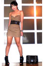 Brown-tyler-dress-black-glitterati-belt-black-online-shoes-black-chanel-pu