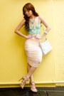 Light-blue-sling-gucci-bag-nude-topshop-heels-aquamarine-tank-topshop-top