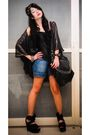 Black-glitterati-accessories-black-top-blue-zara-shorts-black-topshop-shoe