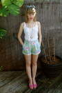 Light-blue-hawaiian-print-ralph-lauren-thrifted-shorts