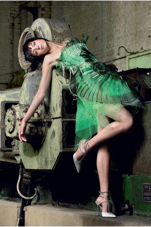 green aveda ecoture dress