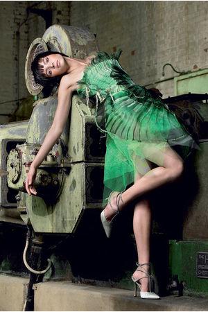 green aveda ecoture dress