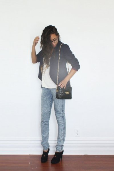 blazer - leggings - accessories - accessories - top