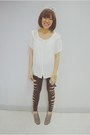 Heather-gray-ankle-boots-boots-black-ragged-leggings-white-see-through-blous