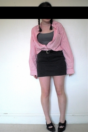 Gap top - Aeropostale shirt - TheoMiles skirt - Liz Clairborne belt - moms shoes
