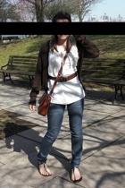 Judy Bond blouse - Charade jeans - Target sweater - StreetFeet shoes - Milan bel