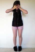 Old Navy t-shirt - Gap shorts - Steve Mdden boots - grandma necklace - Charade s