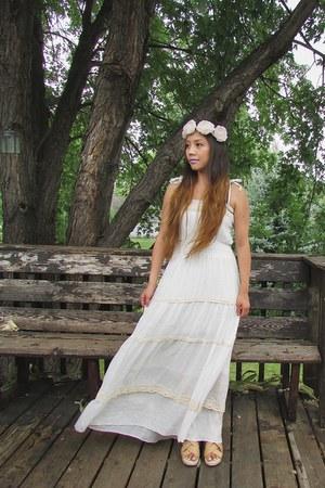 white long tier dress from Korea dress