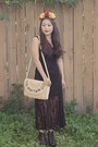 Black-korea-boots-black-lace-dress-forever-21-dress-ivory-thrift-store-purse