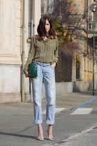 green disco bag Gucci bag - cream sparkling Gianvito Rossi shoes