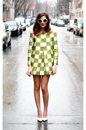 Louis Vuitton dress - Pollini glasses