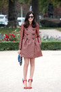 Carrot-orange-jaquard-redvalentino-coat-blue-anya-hindamarch-bag