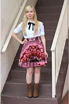 Forever21 skirt - boots - blouse