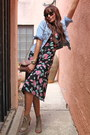 Black-floral-urban-outfitters-dress-sky-blue-denim-old-navy-jacket