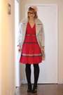 Black-aldo-shoes-hot-pink-french-connection-dress-silver-h-m-coat