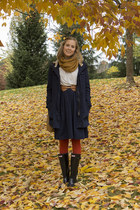 navy navy coat modcloth coat - black Hunter boots