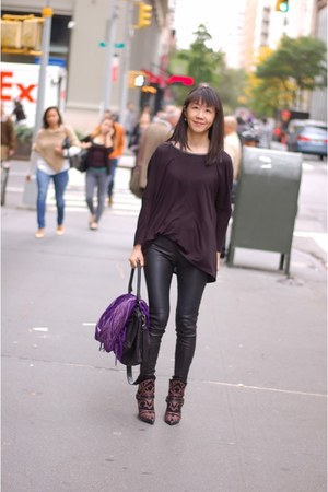 blackson boots Isabel Marant boots - leather leggins Leith leggings
