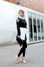 Neutral-ankle-boots-black-forever-21-leggings-white-stylenanda-shirt