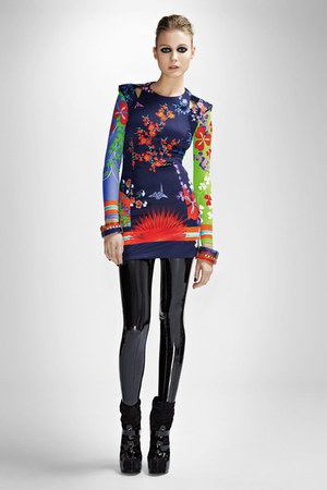 versace boots - varsace dress - liquid versace leggings