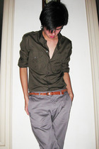 Zara shirt - Zara pants - H&amp;M belt