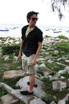 British India top - Zara t-shirt - pull&bear shorts - pull&bear belt - calvin kl