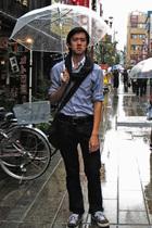 Gap shirt - Gap scarf - Topman jeans - Zara belt