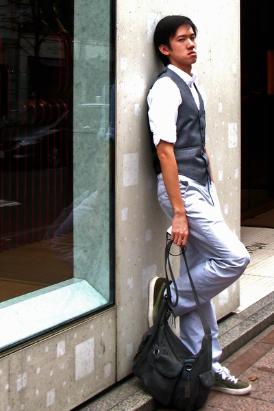 Topman vest - hollister shirt - Express Men pants - Esprit accessories