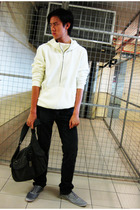Armani Exchange sweater - Zara pants - Topman shoes - Esprit accessories